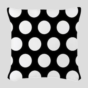 # Black And White Polka Dots Woven Throw Pillow