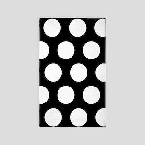 # Black And White Polka Dots Area Rug