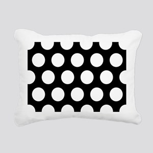 # Black And White Polka Dots Rectangular Canvas Pi