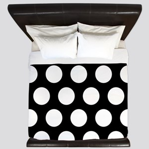 # Black And White Polka Dots King Duvet
