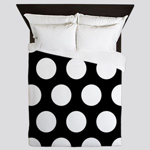 # Black And White Polka Dots Queen Duvet