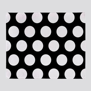 # Black And White Polka Dots Throw Blanket