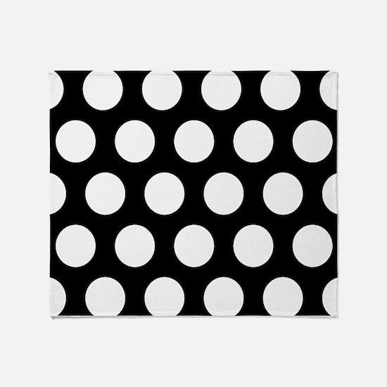 # Black And White Polka Dots Throw Blanket