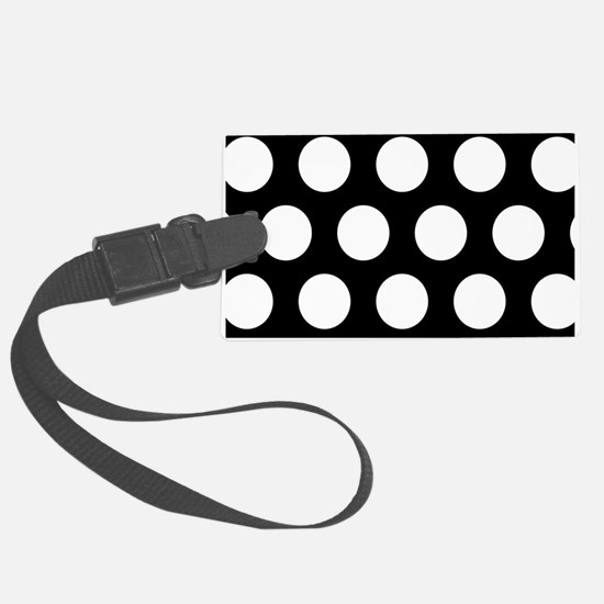 # Black And White Polka Dots Luggage Tag
