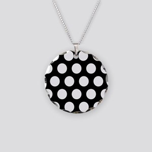 # Black And White Polka Dots Necklace