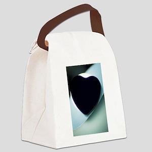 Love heart shape silhouette abstr Canvas Lunch Bag