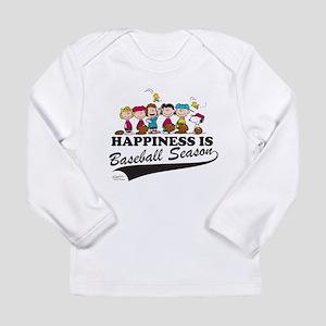 The Peanuts Gang Baseba Long Sleeve Infant T-Shirt