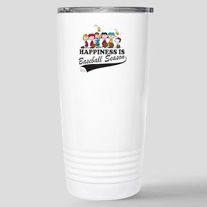 The Peanuts Gang Baseba Stainless Steel Travel Mug
