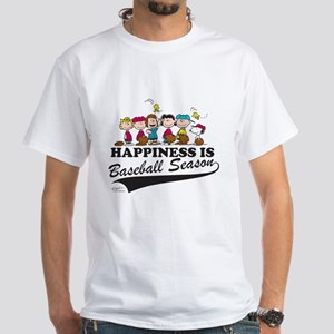 The Peanuts Gang Baseball White T-Shirt