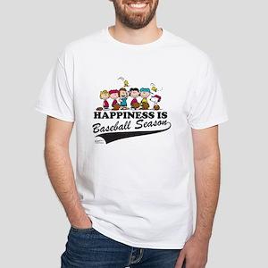 7c806987cbe The Peanuts Gang Baseball White T-Shirt
