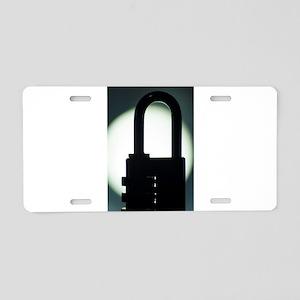 Combination code padlock si Aluminum License Plate