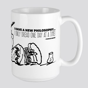 Charlie Brown Philosophy Large Mug