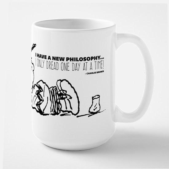 Charlie Brown Philosophy Large Mug