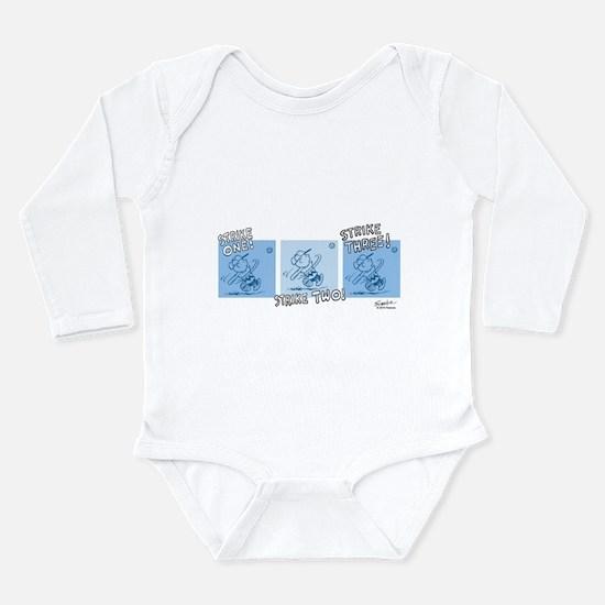 Charlie Brown Baseball Long Sleeve Infant Bodysuit