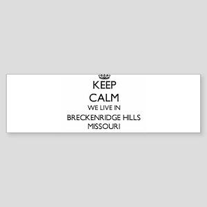 Keep calm we live in Breckenridge H Bumper Sticker