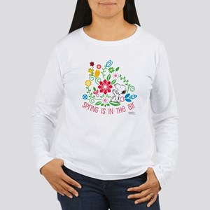 Snoopy Spring Women's Long Sleeve T-Shirt