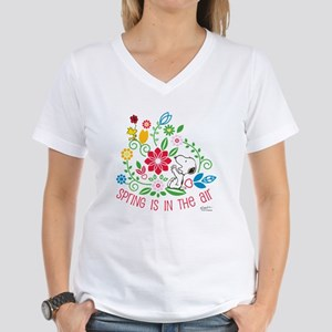 Snoopy Spring Women's V-Neck T-Shirt