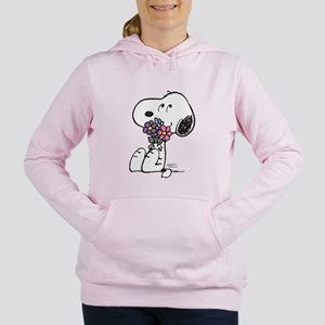 Springtime Snoopy Women's Hooded Sweatshirt