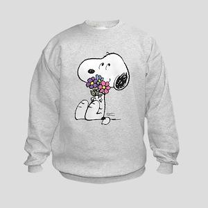Springtime Snoopy Kids Sweatshirt
