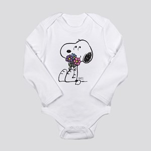 Springtime Snoopy Long Sleeve Infant Bodysuit