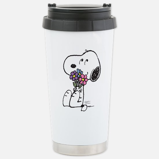 Springtime Snoopy Stainless Steel Travel Mug