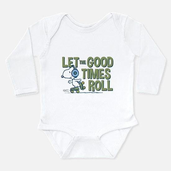 Snoopy Skate Long Sleeve Infant Bodysuit