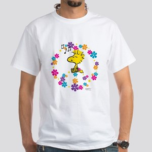 Woodstock Peace White T-Shirt