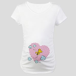 Valentine's Woodstock Maternity T-Shirt