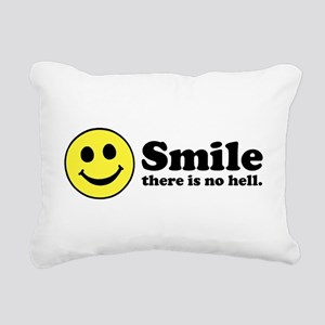 Smile there is No Hell Rectangular Canvas Pillow