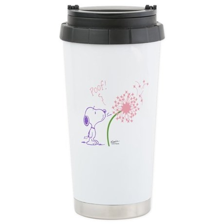 Snoopy Dandelion Stainless Steel Travel Mug