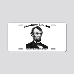 Lincoln: Corps Aluminum License Plate