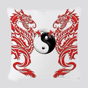 Dragons (W) Woven Throw Pillow