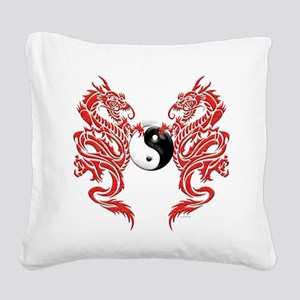 Dragons (W) Square Canvas Pillow