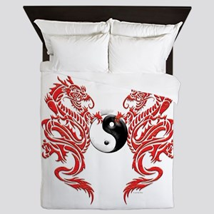 Dragons (W) Queen Duvet