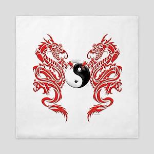 Dragons (W) Queen Duvet
