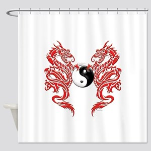 Dragons (W) Shower Curtain