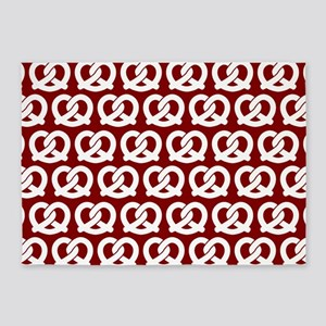 Red and White Twisted Yummy Prestze 5'x7'Area Rug