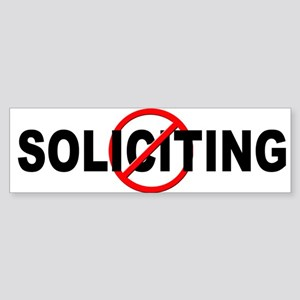 No Solicitation Sticker (Bumper)