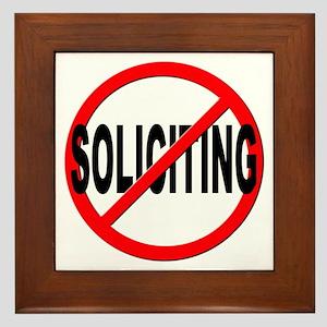 No Solicitation Framed Tile