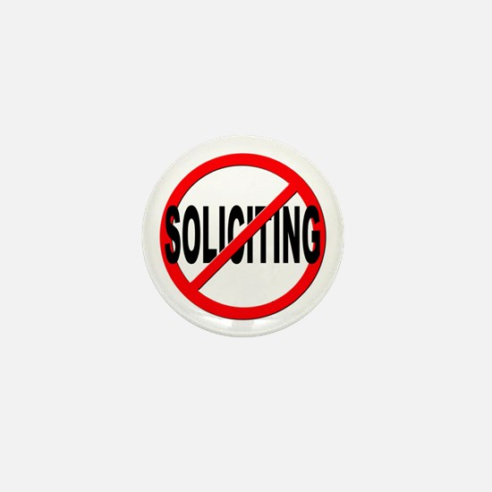 No Solicitation Mini Button