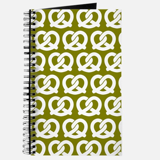Olive and White Twisted Yummy Prestzels Pa Journal