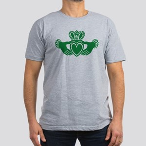 Celtic claddagh Men's Fitted T-Shirt (dark)