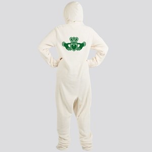 Celtic claddagh Footed Pajamas