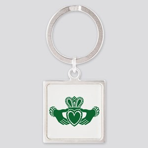 Celtic claddagh Square Keychain