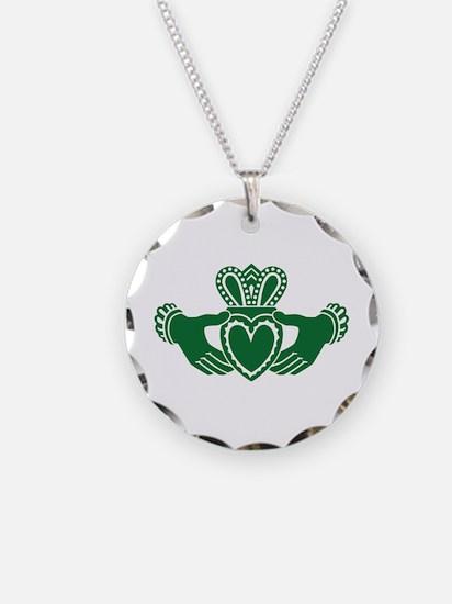 Celtic claddagh Necklace Circle Charm