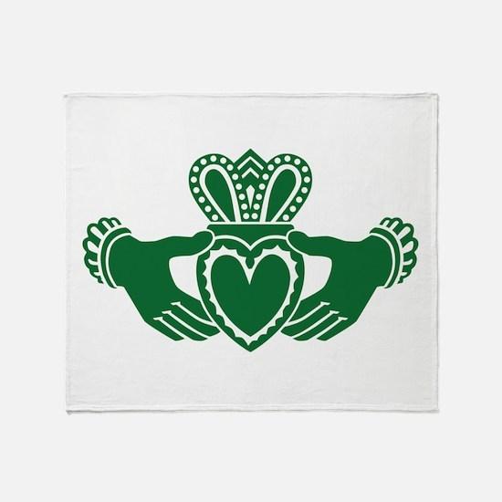 Celtic claddagh Throw Blanket