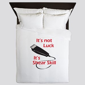 SHEAR SKILL Queen Duvet