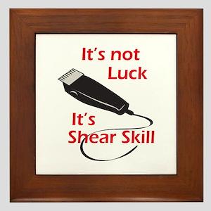 SHEAR SKILL Framed Tile