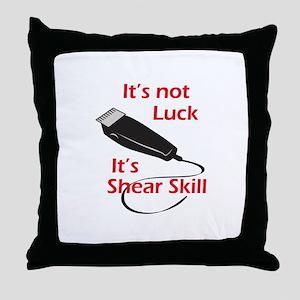 SHEAR SKILL Throw Pillow