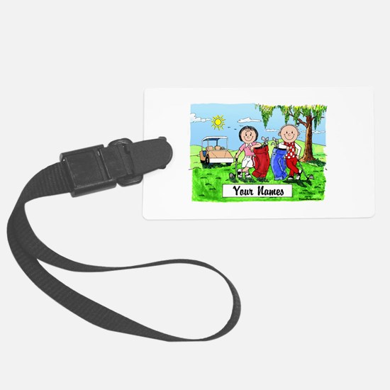 Cool Couples Luggage Tag